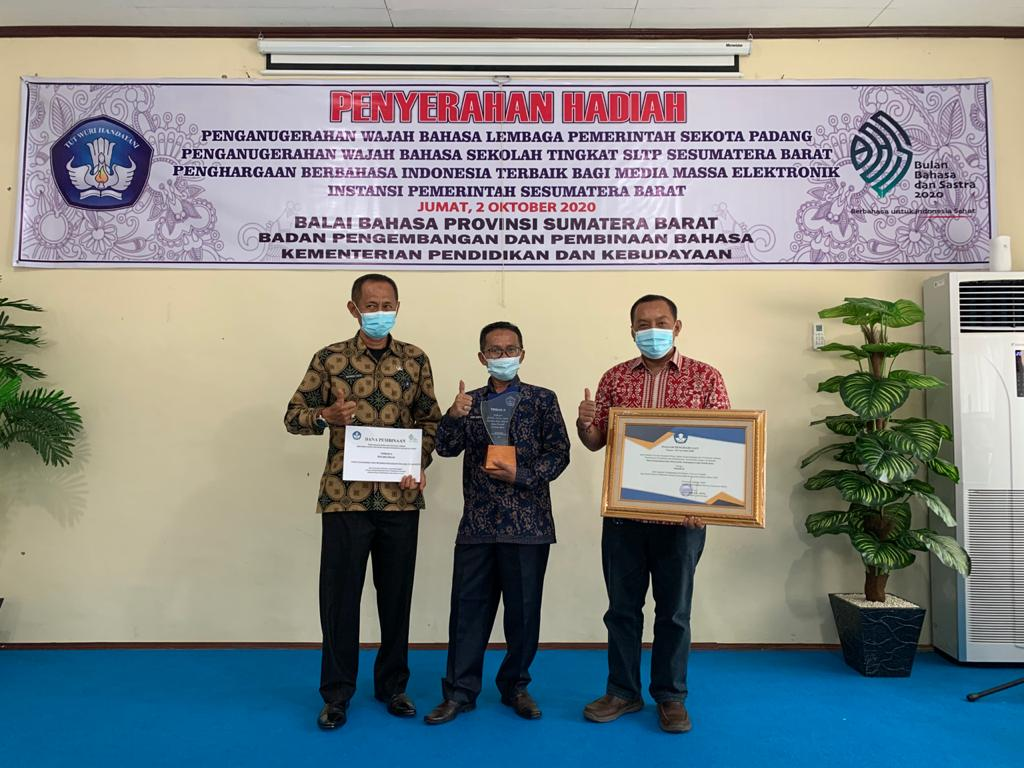 Website Lima Puluh Kota Berhasil Raih Penghargaan Terbaik II Penggunaan Bahasa Indonesia Media Massa Elektronik Instansi Pemerintah